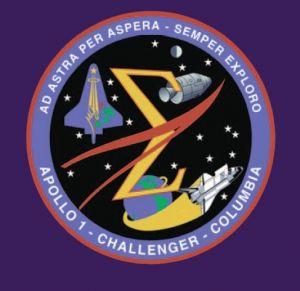아폴로 1호, 챌린저 호, 컬럼비아 호 참사 희생자를 기리는 엠블럼